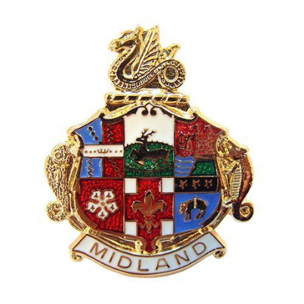 Midland Railway Coat of Arms Collectors Badge